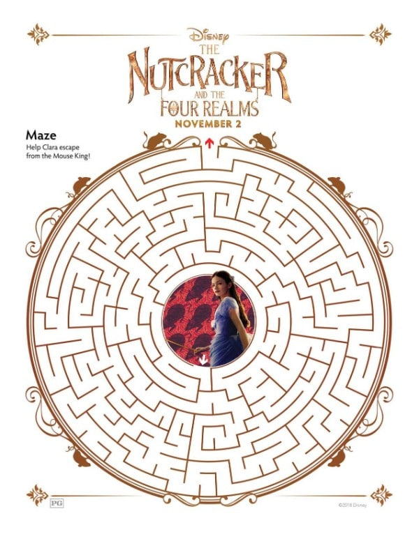 printable Nutcracker maze