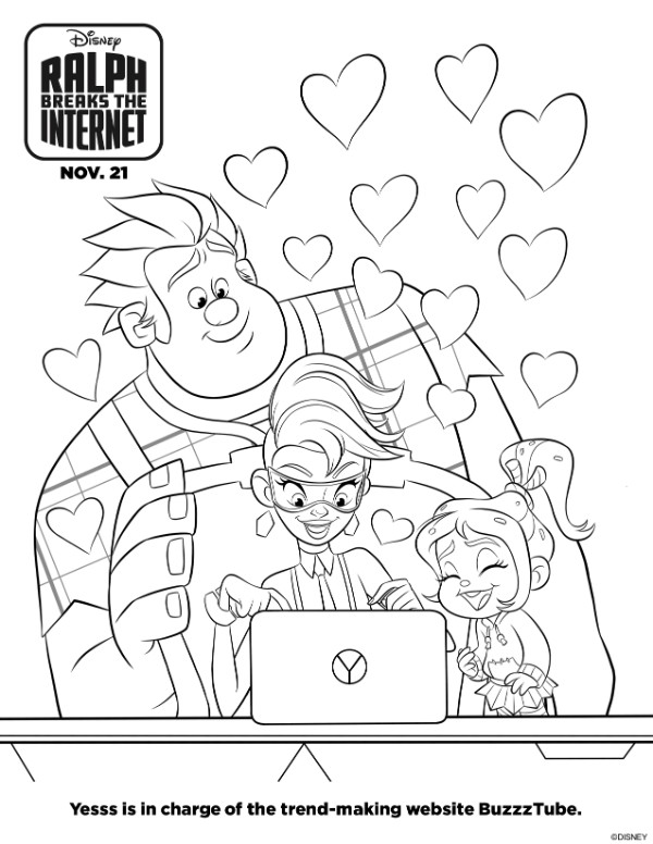 Ralph Breaks the Internet printable coloring page
