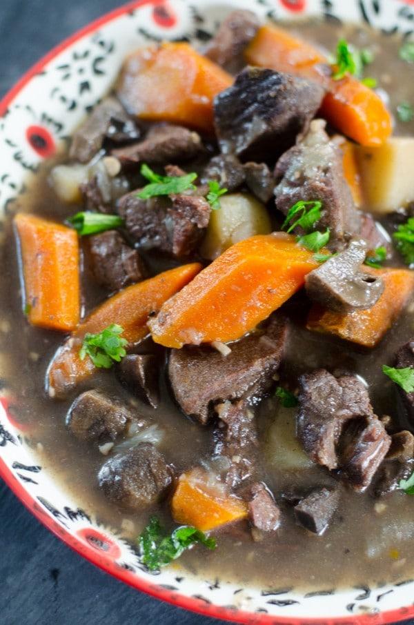 beef bourguignon in a bowl