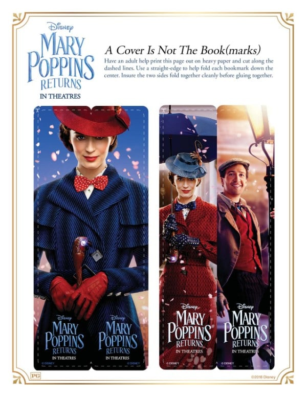 printable Mary Poppins bookmarks