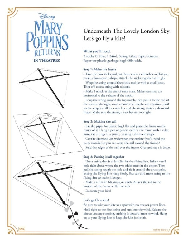printable directions to make a kite