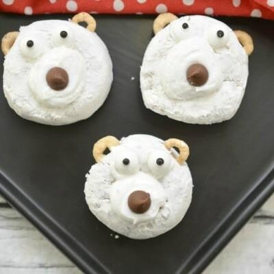 polar bear donuts breakfast