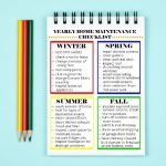 Yearly Home Maintenance Checklist