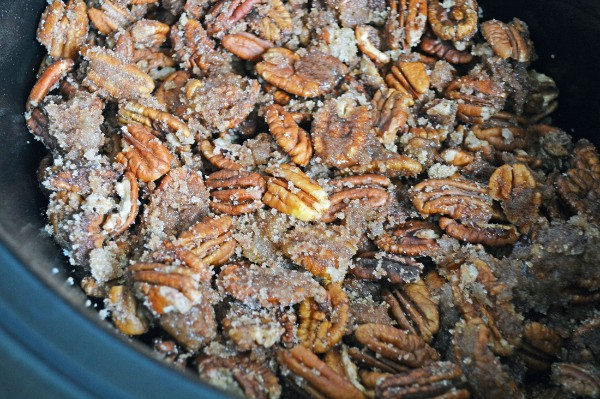 candied pecans in a slow cooker