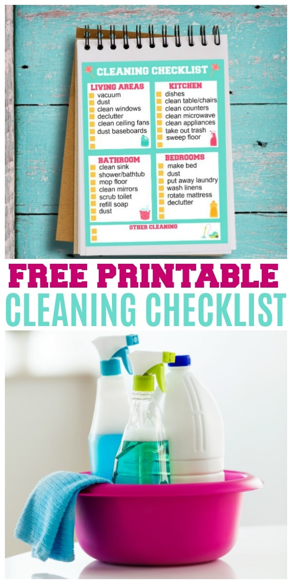 printable cleaning checklist