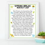 printable Spring Break Bucket List
