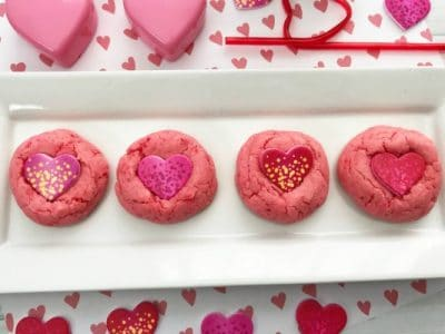 easy Strawberry Candy Heart Cookies