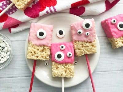Valentine Rice Krispie Bars