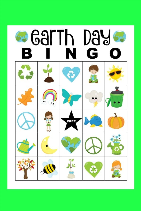 graphic regarding Printable Bingo Cards for Kids identify Planet Working day Bingo