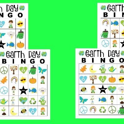 free printable Earth Day Bingo cards