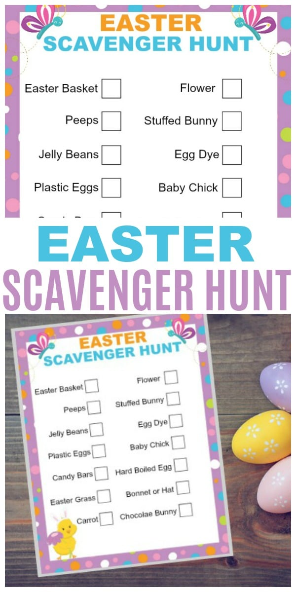 Easter Scavenger Hunt