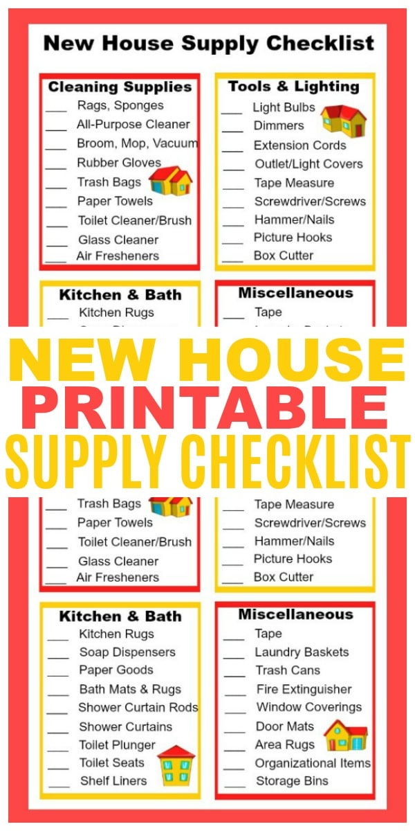 printable House Checklist