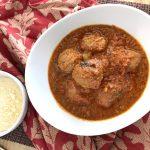 Instant Pot Mozzarella Stuffed Meatballs with parmesan