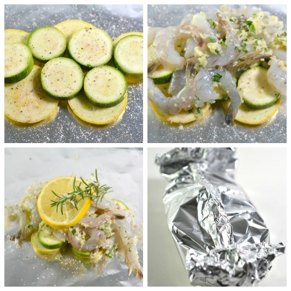 easy Keto Shrimp Foil Packets