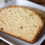 3 Ingredient Banana Bread sliced and ready to enjoy