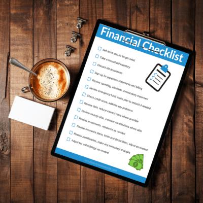 Financial Checklist on Desk