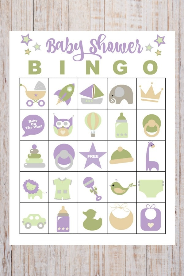 image relating to Printable Baby Shower Bingo named No cost Printable Little one Shower Bingo