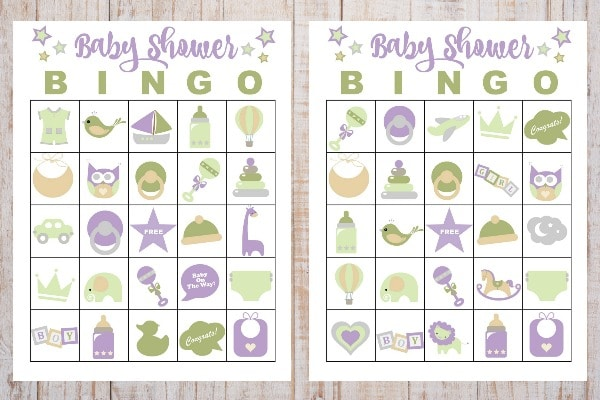 photograph relating to Printable Baby Shower Bingo identify Absolutely free Printable Youngster Shower Bingo
