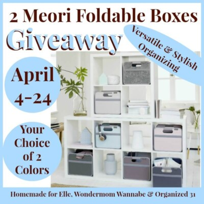 giveaway for two Maori foldable boxes