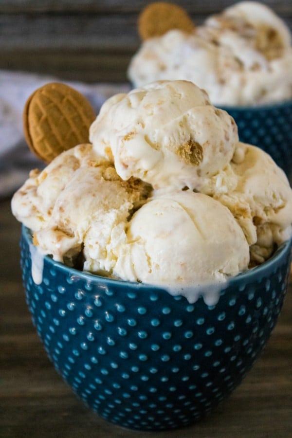 easy homemade Nutter Butter ice cream