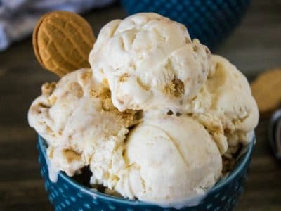 easy homemade Nutter Butter ice cream
