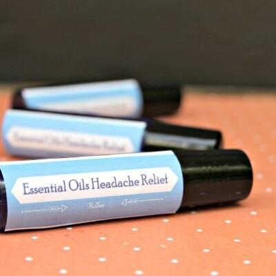 easy essential oil headache relief roller