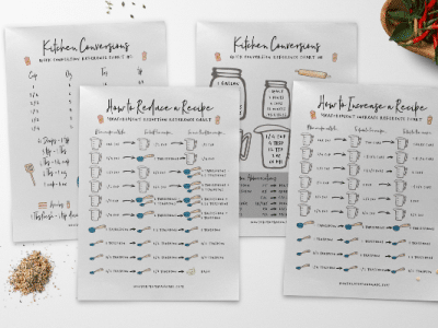 free printable kitchen reference charts