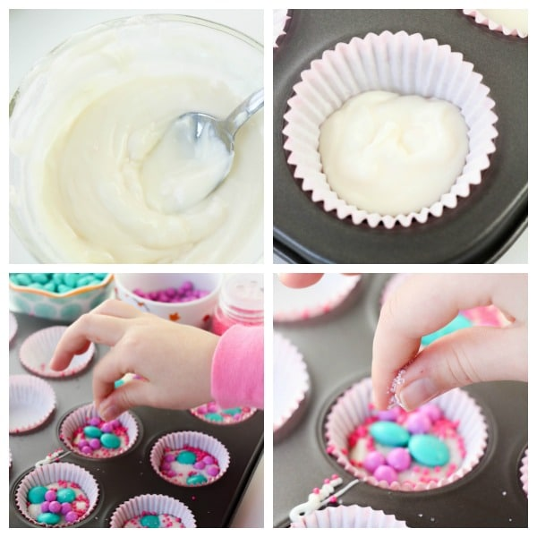 how to make Unicorn Dessert Cups