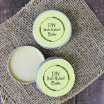 essential oil itch relief cream on burlap