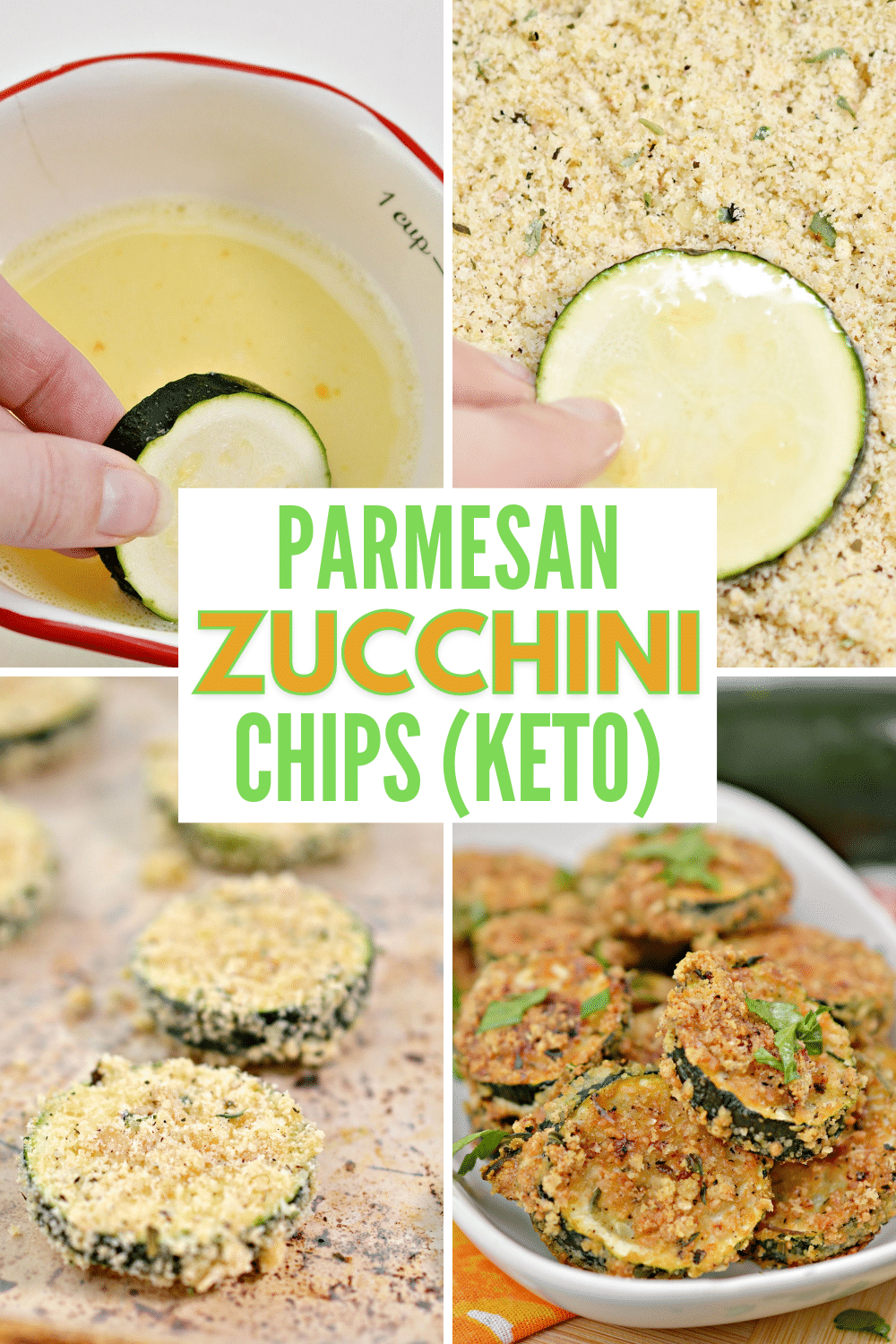 These Keto Parmesan Zucchini Chips are low carb and delicious. A great way to use up extra zucchini and works as an appetizer or side dish. #zucchini #keto #lowcarb via @wondermomwannab