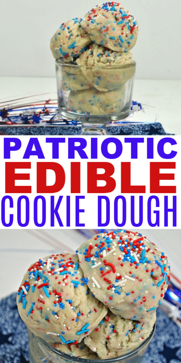 Patriotic Edible Cookie Dough Recipes