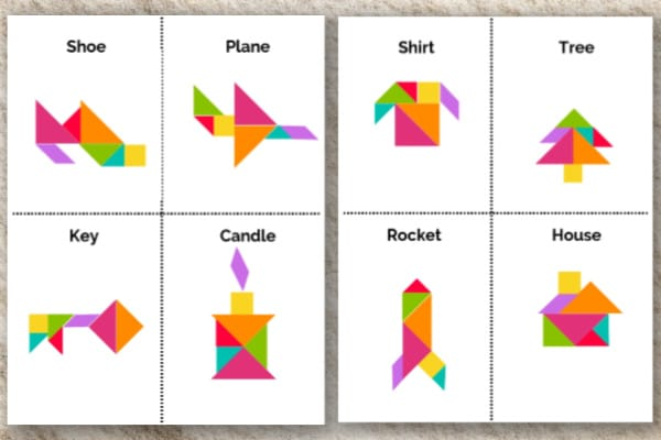 picture regarding Printable Tangram called Printable Tangram Merchandise