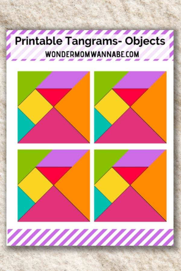 photo about Printable Tangram referred to as Printable Tangram Things