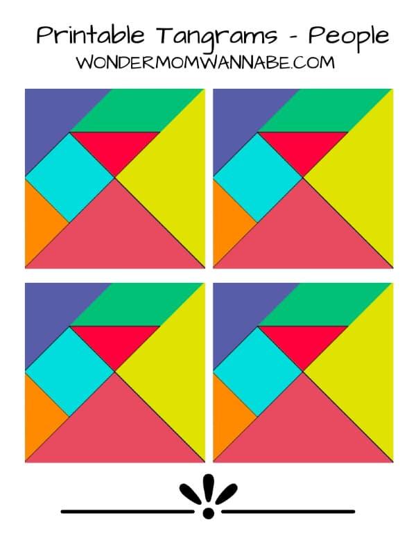photo relating to Tangrams Printable called Printable Tangram These