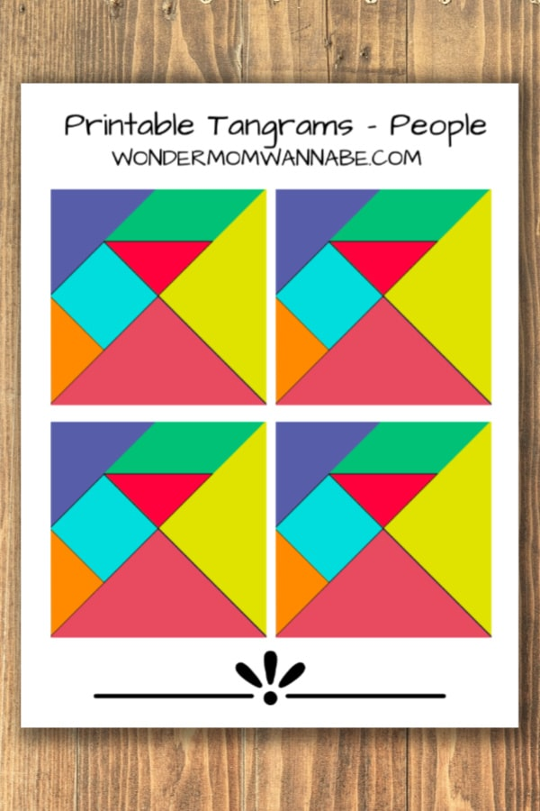 picture about Printable Tangram named Printable Tangram Us residents