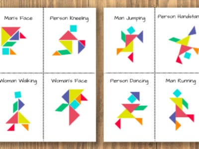 printable tangrams people