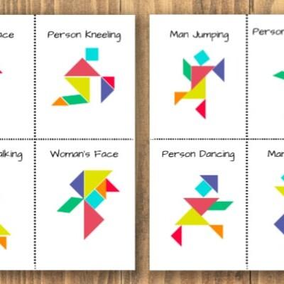 printable tangrams people