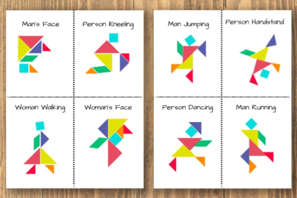 image relating to Printable Tangram titled Printable Tangram Those