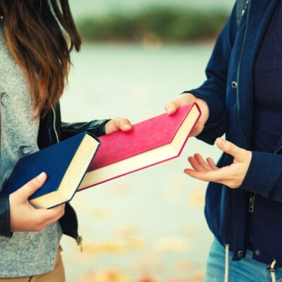 exchanging books