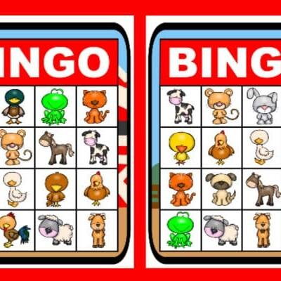 printable farm bingo set
