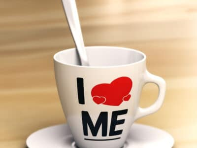 I love me coffee mug with spoon