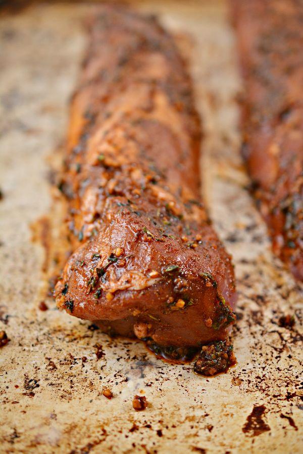 Pork Tenderloin covered in a jamaican jerk seasoning