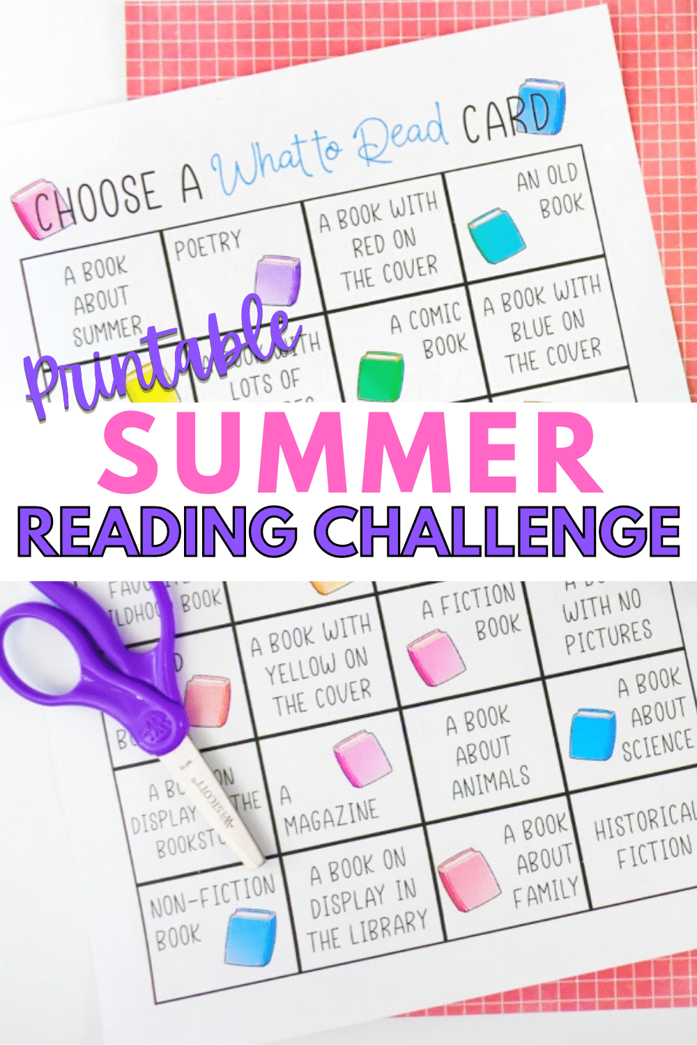 This printable summer reading challenge is the perfect way to make reading fun for kids over the summer months. Challenge kids to read more this summer! #reading #summer #printable via @wondermomwannab