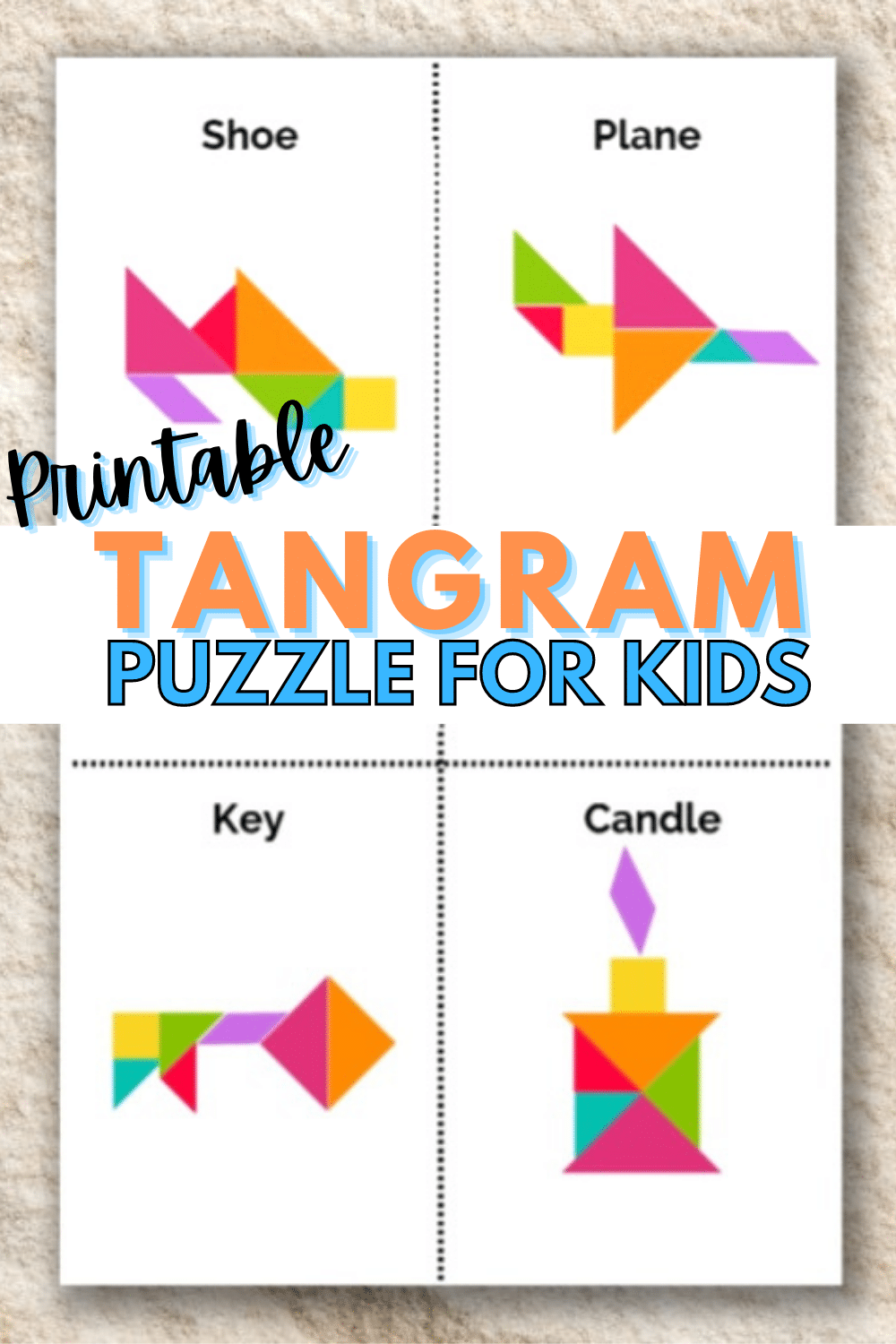 These printable tangram objects are great puzzles to complete. A kids activity that will keep their mind active and they will enjoy it too! #printables #tangrams #puzzles via @wondermomwannab