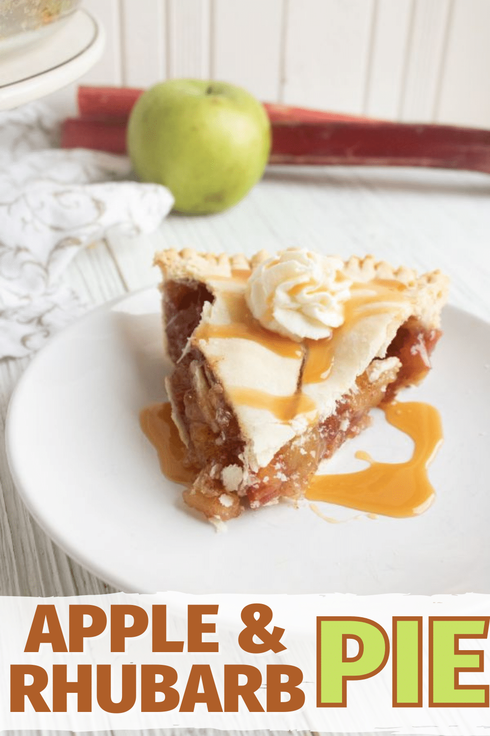 Apple and Rhubarb Pie is the perfect dessert for fall and Thanksgiving. This delicious pie is full of fruit and flavor and looks amazing on your table. #apples #rhubarb #pie via @wondermomwannab