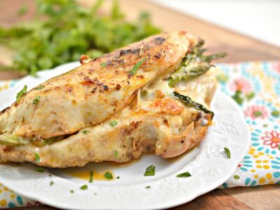 easy asparagus stuffed chicken