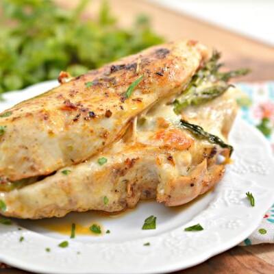 easy asparagus stuffed chicken