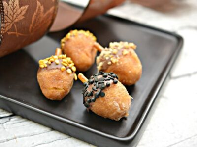 donut hole acorns for fall