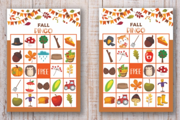 image relating to Fall Bingo Printable identified as Slide Bingo