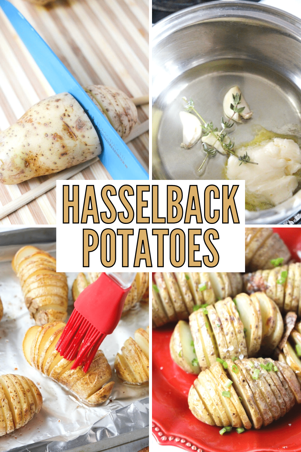 Hasselback Potatoes are a lovely side dish and actually easy to make. This is a great potato dish for holidays and when entertaining guests. #potatoes #sidedish #vegetables via @wondermomwannab